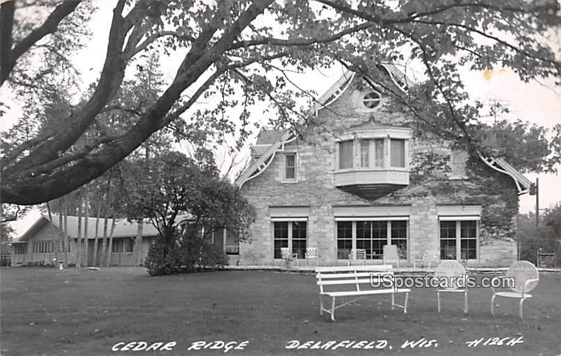 Cedar Ridge - Delafield, Wisconsin WI Postcard