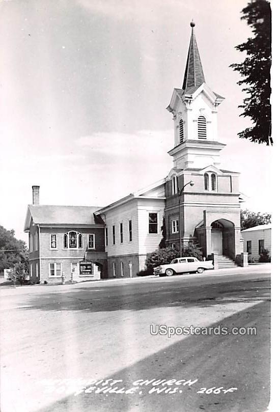 Methodist Church - Dodgeville, Wisconsin WI Postcard
