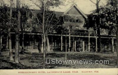 Sterlingworth Hotel - Elkhorn, Wisconsin WI Postcard