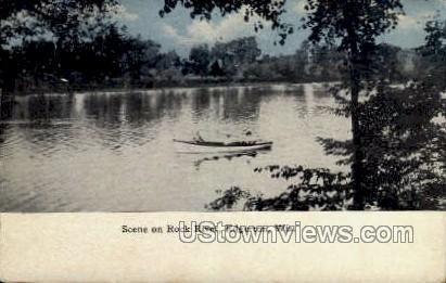 Rock River - Edgerton, Wisconsin WI Postcard