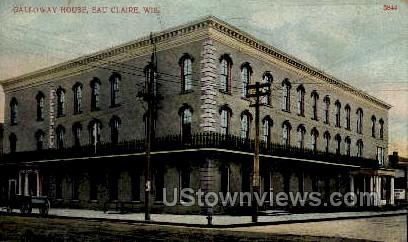 Galloway House - Eau Claire, Wisconsin WI Postcard