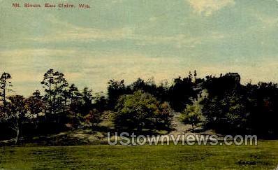 Mt. Simon - Eau Claire, Wisconsin WI Postcard