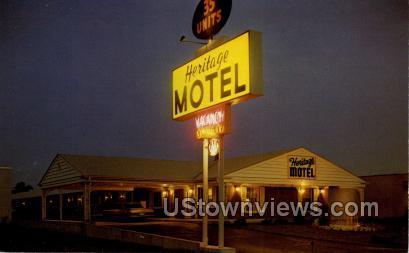 Heritage Motel - Eau Claire, Wisconsin WI Postcard