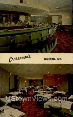Crossroads - Elkhorn, Wisconsin WI Postcard