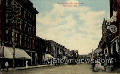 South Barstow Street - Eau Claire, Wisconsin WI Postcard