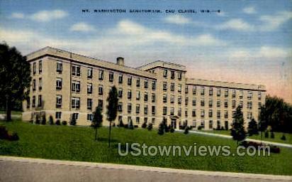 Mt. Washington Sanitorium - Eau Claire, Wisconsin WI Postcard