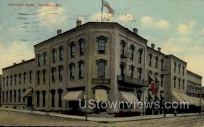 Eau Claire House - Wisconsin WI Postcard
