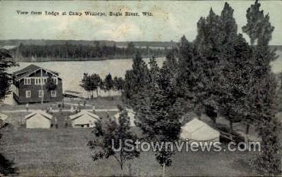 Camp Winnepe - Eagle River, Wisconsin WI Postcard