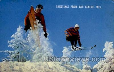 Greetings From - Eau Claire, Wisconsin WI Postcard