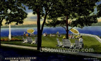 Edgewater Lodge - Ephraim, Wisconsin WI Postcard