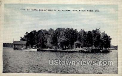 Catfish Lake - Eagle River, Wisconsin WI Postcard