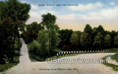 Greetings From - Elkhart, Wisconsin WI Postcard