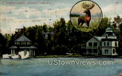 Fleck's Resort - Elkhart Lake, Wisconsin WI Postcard