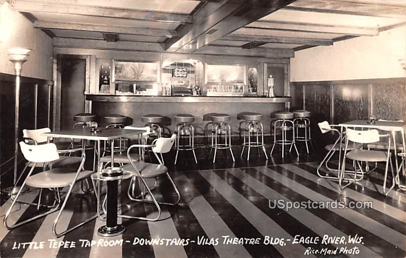 Little Tepee Taproom - Eagle River, Wisconsin WI Postcard