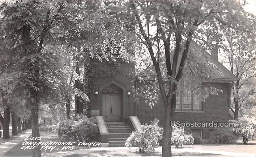 Congregational Church - East Troy, Wisconsin WI Postcard
