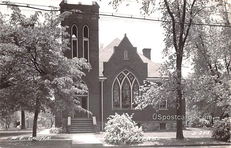 ME Church - East Troy, Wisconsin WI Postcard