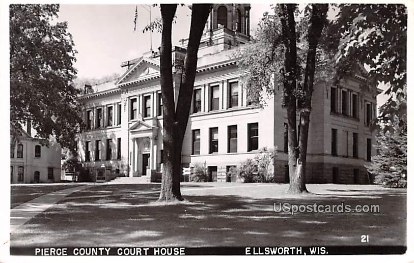 Pierce County Court House - Ellsworth, Wisconsin WI Postcard