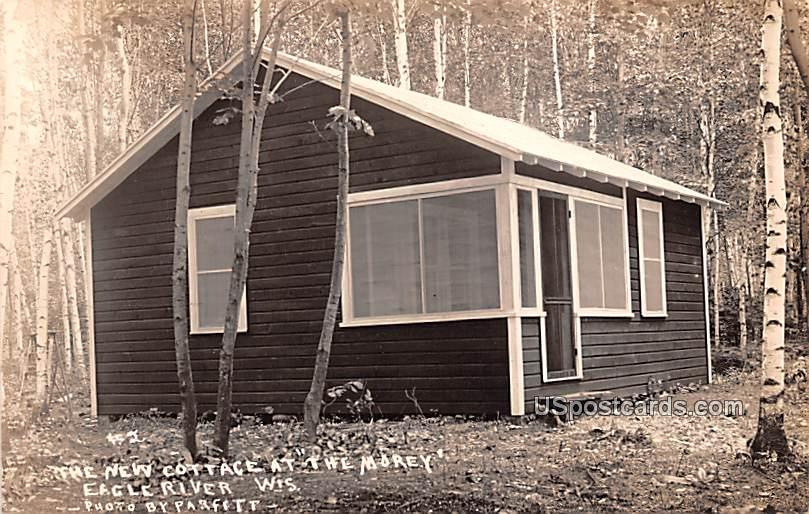 New Cottage - Eagle River, Wisconsin WI Postcard