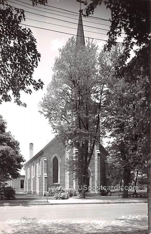 Catholic Church - East Troy, Wisconsin WI Postcard