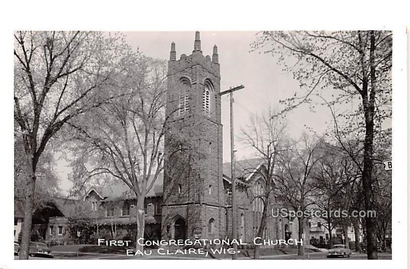 First Congregational Church - Eau Claire, Wisconsin WI Postcard