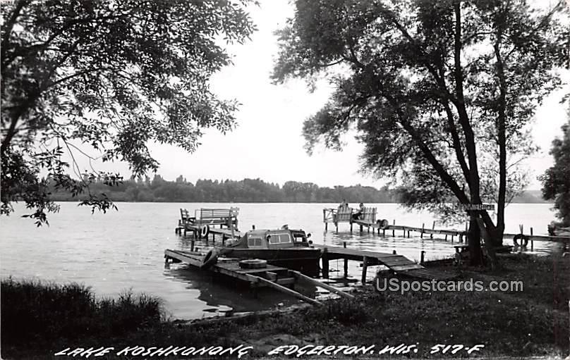 Lake Koshkonong - Edgerton, Wisconsin WI Postcard