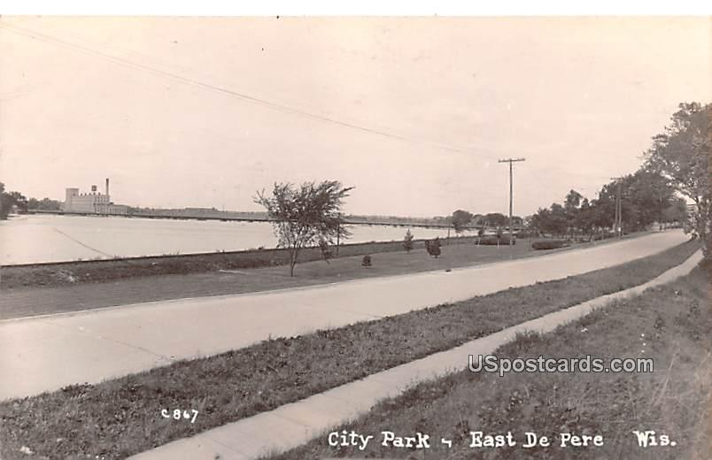 City Park - East De Pere, Wisconsin WI Postcard