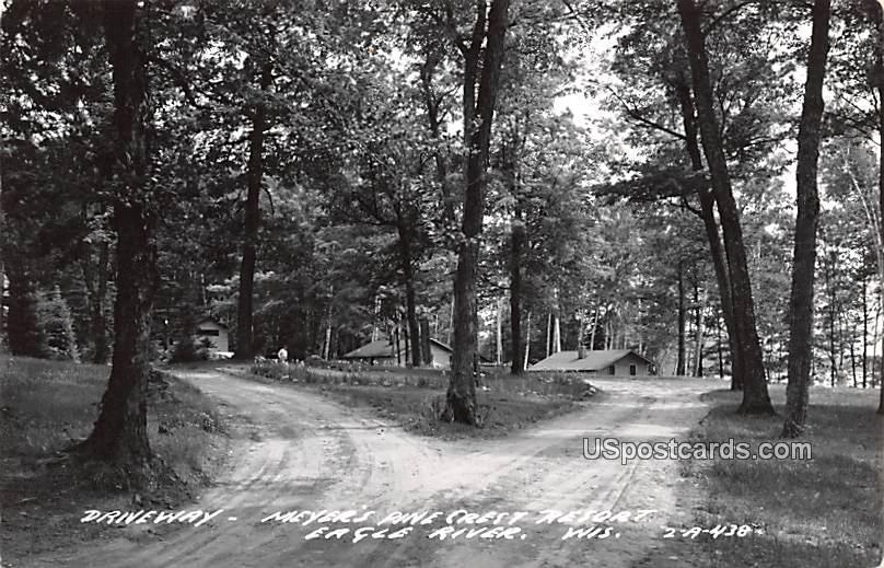 Driveway - Eagle River, Wisconsin WI Postcard