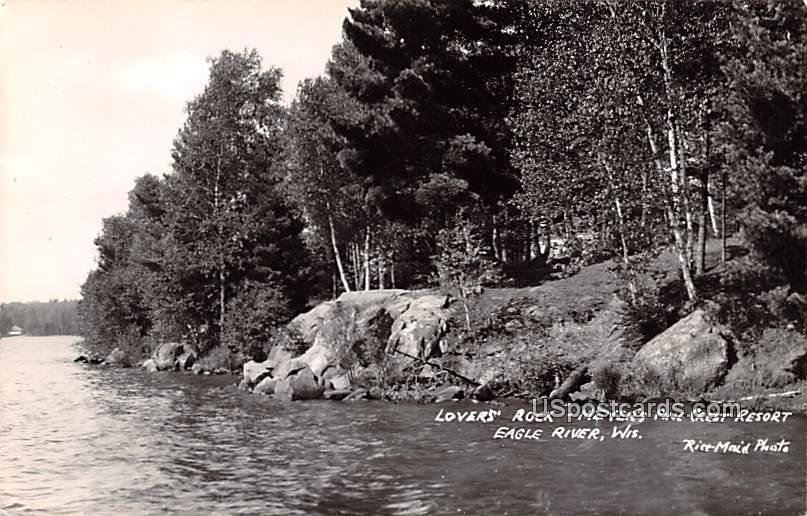 Lovers' Rock - Eagle River, Wisconsin WI Postcard