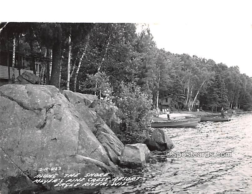 Along the Shore - Eagle River, Wisconsin WI Postcard