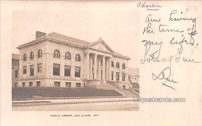 Public Library - Eau Claire, Wisconsin WI Postcard