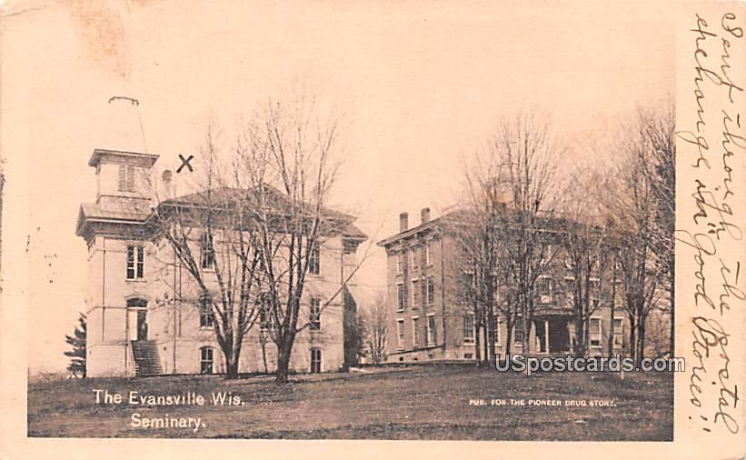 Seminary - Evansville, Wisconsin WI Postcard