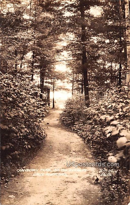 Cranberry Trail at the Everett - Eagle River, Wisconsin WI Postcard