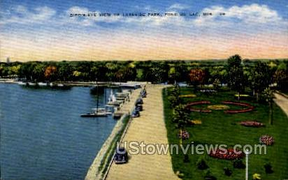 Birds Eye View - Fond du Lac, Wisconsin WI Postcard