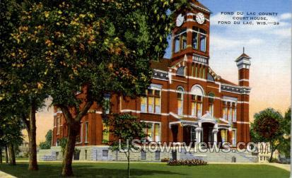 Fond Du Lac County Courthouse - Wisconsin WI Postcard
