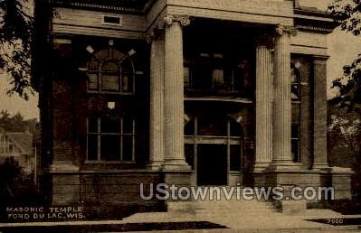 Masonic Temple - Fond du Lac, Wisconsin WI Postcard