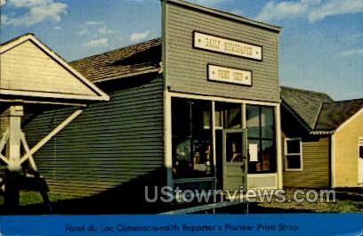 Print Shop - Fond du Lac, Wisconsin WI Postcard