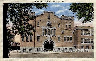 Armory - Fond du Lac, Wisconsin WI Postcard