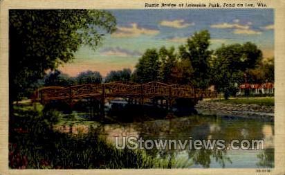 Lakeside Park - Fond du Lac, Wisconsin WI Postcard