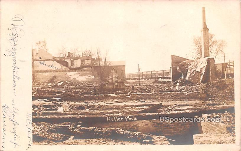 After Disaster - Fountain City, Wisconsin WI Postcard