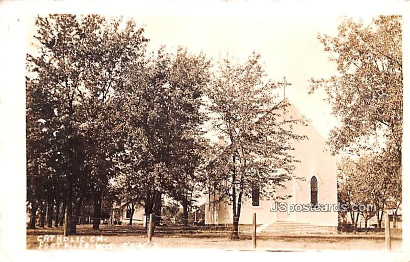 Catholic Church - Footville, Wisconsin WI Postcard