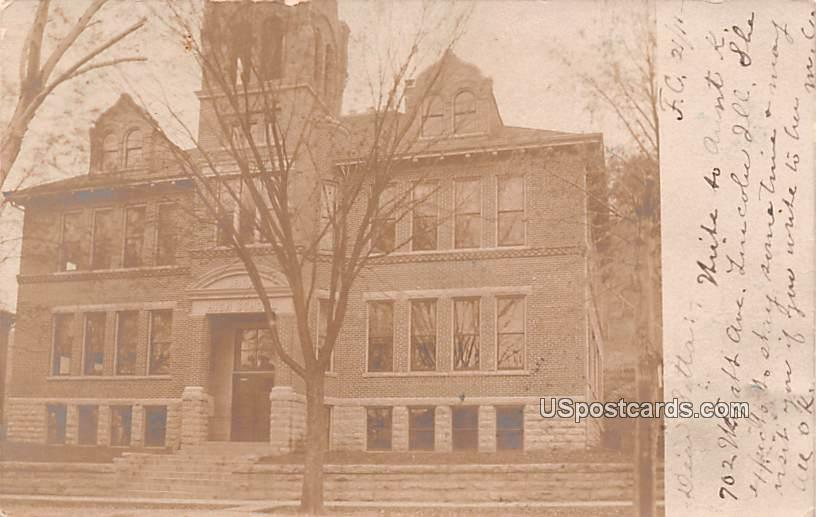 High School - Fountain City, Wisconsin WI Postcard