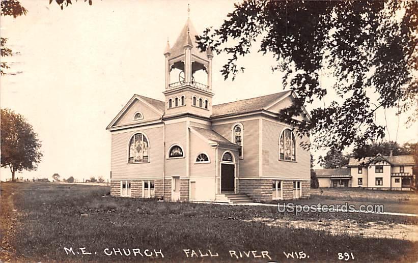 ME Church - Fall River, Wisconsin WI Postcard