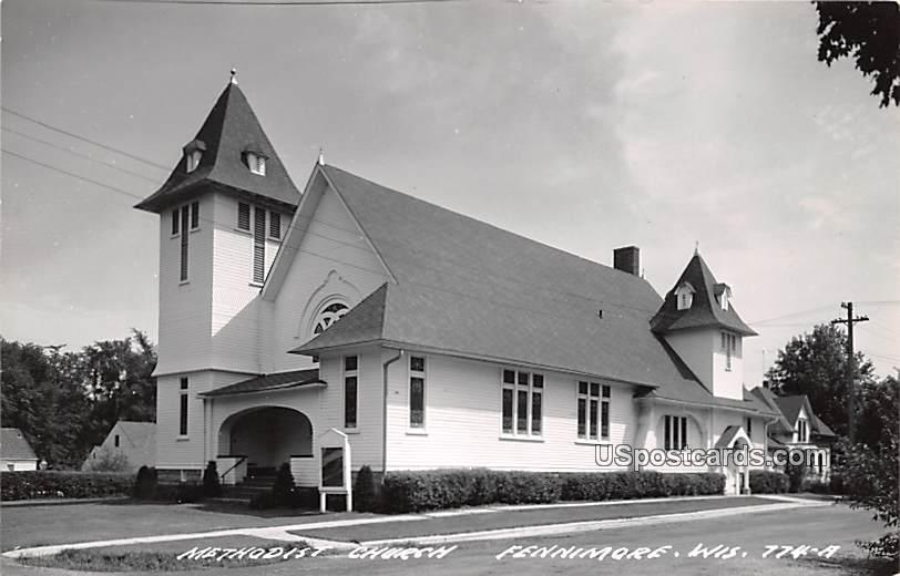 Methodist Church - Fennimore, Wisconsin WI Postcard