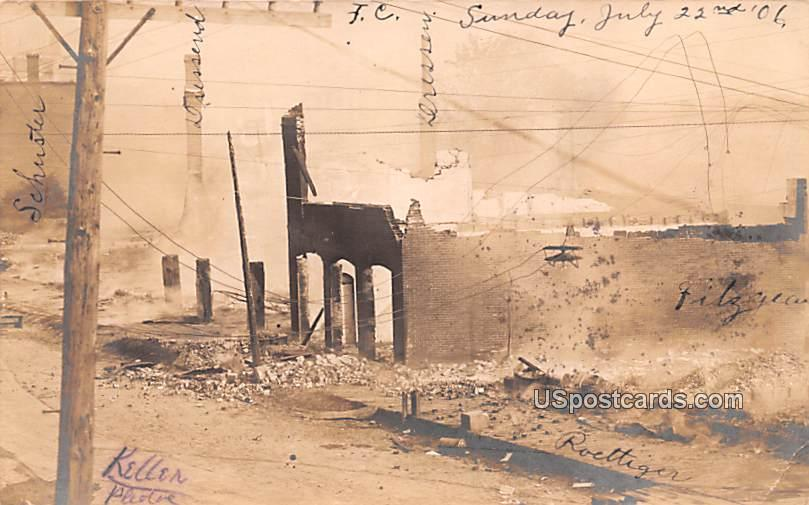 Ruins July 22, 1906 - Fountain City, Wisconsin WI Postcard