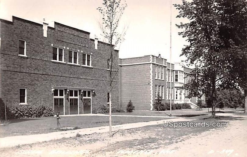 School Building - Florence, Wisconsin WI Postcard