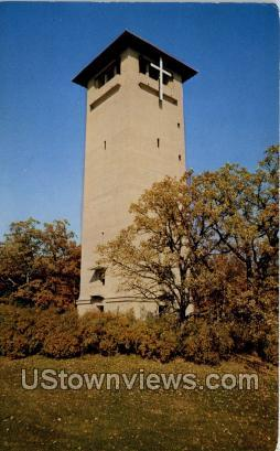 Judson Tower - Green Lake, Wisconsin WI Postcard