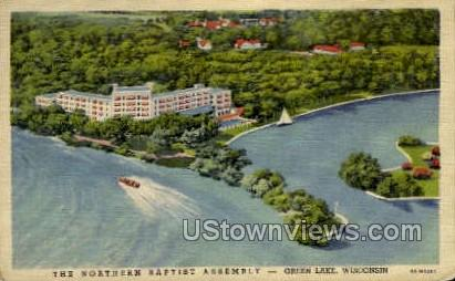 Northern Baptist Assembly - Green Lake, Wisconsin WI Postcard
