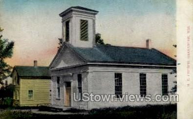 M. E. Church  - Greenbush, Wisconsin WI Postcard