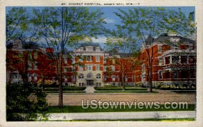 St. Vincent Hospital - Green Bay, Wisconsin WI Postcard