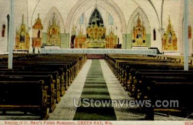 St. Mary's Polish Monastery - Green Bay, Wisconsin WI Postcard